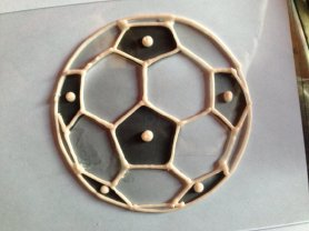 Soccer ball cookie press