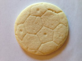 Baked cookie made with press