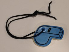 Whistle with liquorice lanyard