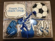 Packed Soccer Coach Gift Cookies 2014