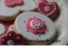 Valentine's Cookie 1 by Cheerful Momma's Custom Art Cookies
