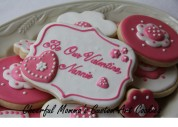Valentine's Cookie 3 by Cheerful Momma's Custom Art Cookies