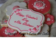 Valentine's Cookie 4 by Cheerful Momma's Custom Art Cookies