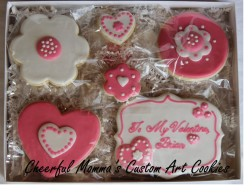 Valentine's Cookie 5 by Cheerful Momma's Custom Art Cookies