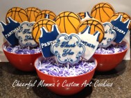 CheerfulMomma's Basketball Coach Thank You Cookie Bouquets 2014