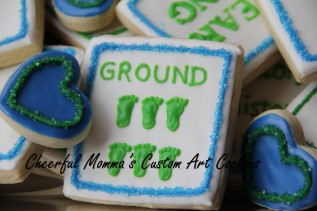 Word Puzzle Cookie 1 by Cheerful Momma's Custom Art Cookies