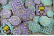Bingo Birthday Cookie Set by Cheerful Momma's Custom Art Cookies