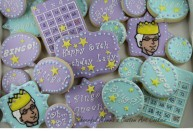 Bingo Birthday Cookie Set by Cheerful Momma's Custom Art Cookies