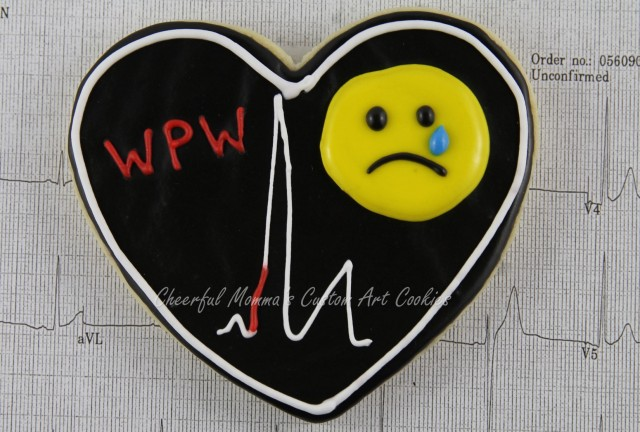 Black Heart by Cheerful Momma's Custom Art Cookies