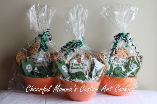 Thank You Basketball Coach Bouquets by Cheerful Momma's Custom Art Cookies