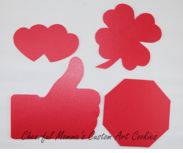 Hand cut cookie templates by Cheerful Momma's Custom Art Cookies