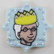 Head shot cookie completed