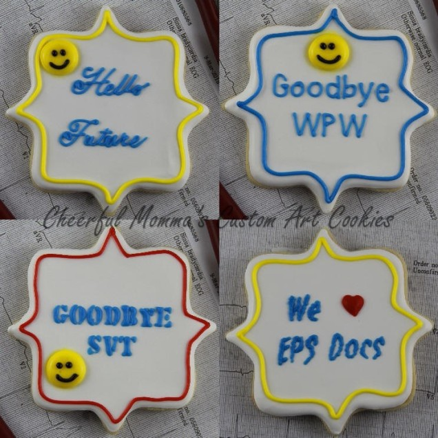 Medical Plaque Cookies by Cheerful Momma's Custom Art Cookies