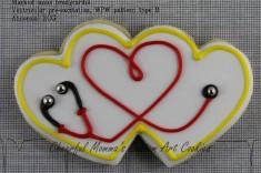 Stethoscope Cookie by Cheerful Momma's Custom Art Cookies