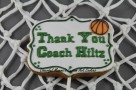 Thank You Coach Plaque 2 Cookie by Cheerful Momma's Custom Art Cookies