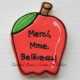 Thank You Teacher Apple French