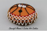 Cartoon Basketball by Cheerful Momma's Custom Art Cookies