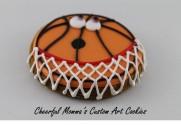 Cartoon Basketball by Cheerful Momma's Custom Art Cookies