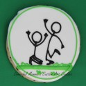 Cheering Soccer Player Stick Figures