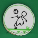 Chest strike soccer player stick figure cookie