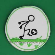 Foot handling soccer stick figure cookie