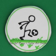 Foot handling soccer stick figure cookie