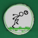 Soccer stick figure heading ball cookie