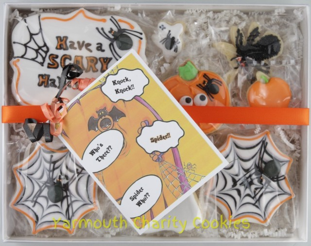 Packaged Halloween Cookies by Yarmouth Charity Cookies