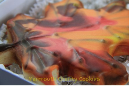 3D Leaf Vein Effect Yarmouth Charity Cookies