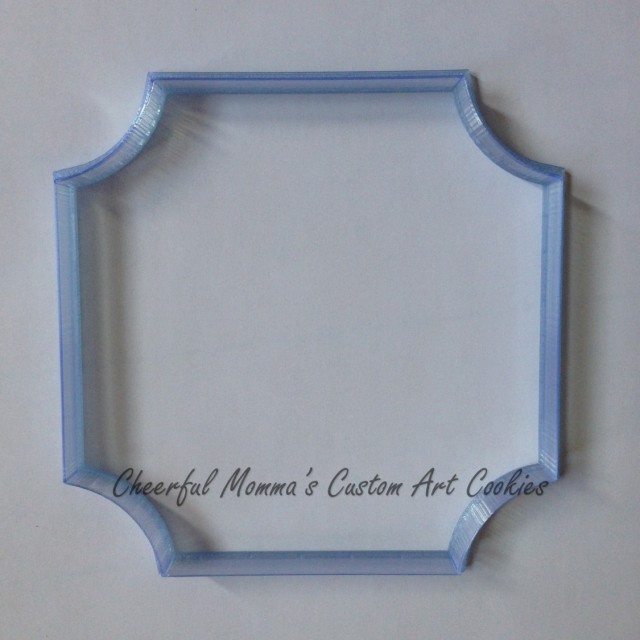 3D printed square plaque cutter by CheerfulMomma's Custom Art Cookies