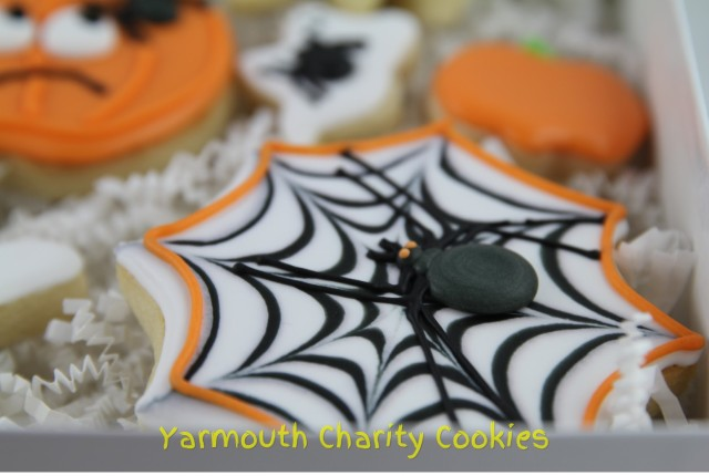 Spider and Web Cookie by Yarmouth Charity Cookies