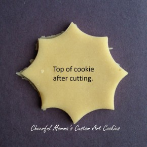 Spider Web Cookie Top with text