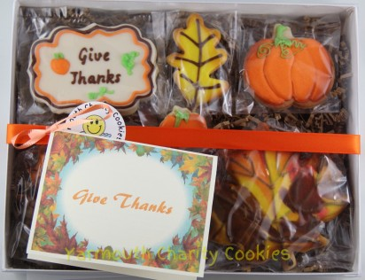 Thanksgiving Cookies Packaged Set Yarmouth Charity Cookies
