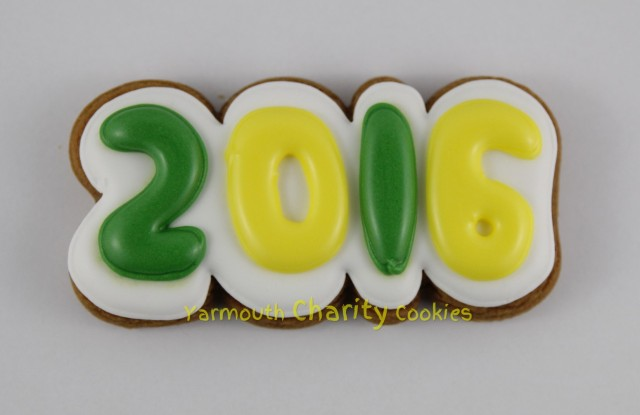 2016 Year Cookie by CheerfulMomma's Custom Art Cookies