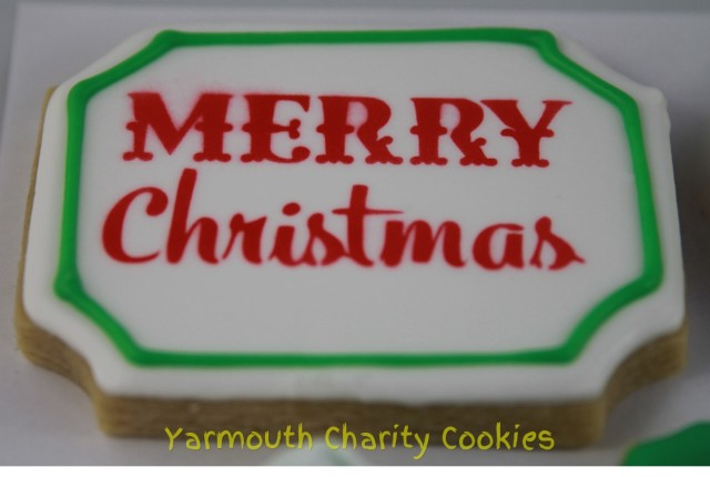Christmas Plaque Cookie by CheerfulMomma