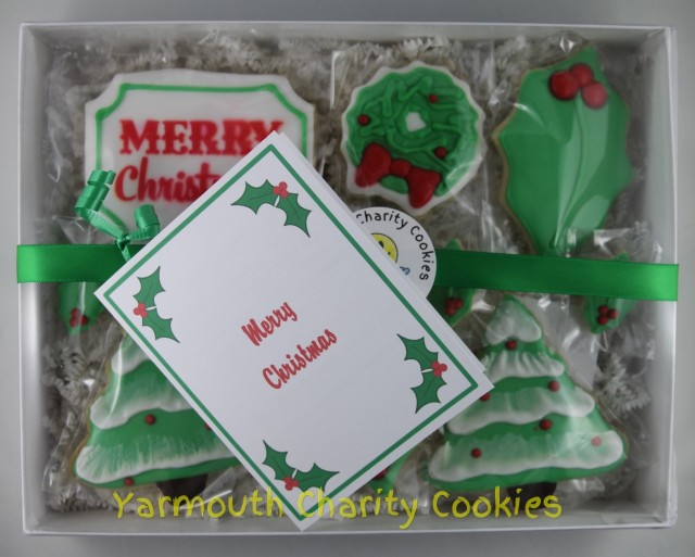 Packaged Set Christmas Cookies by Yarmouth Charity Cookies
