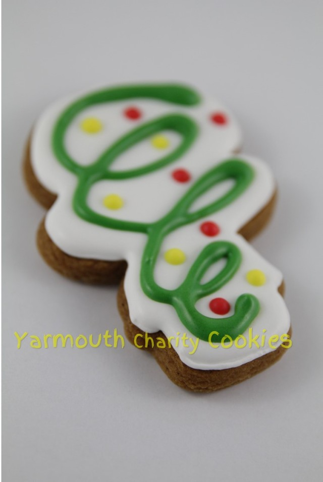 Streamer and Confetti Cookie by CheerfulMomma's Custom Art Cookies