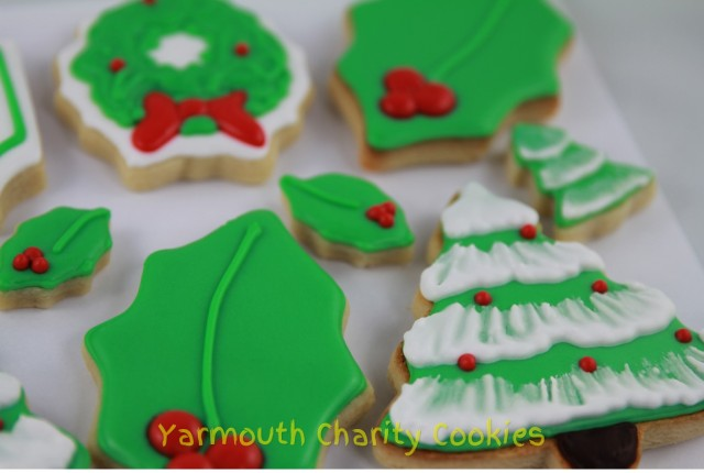 Unpackaged Close Up Christmas Cookies by Yarmouth Charity Cookies