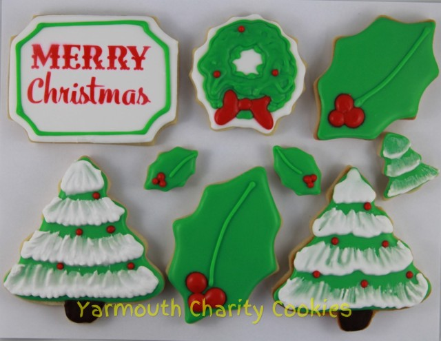 Unpackaged Set Christmas Cookies by Yarmouth Charity Cookies