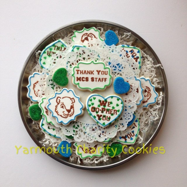 We Go-Pher You Tray Top Layer by Yarmouth Charity Cookies