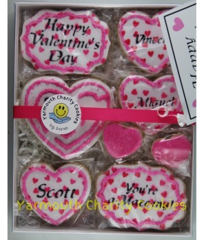 Packaged Valentine's Day Cookie Set (alternate layout view 2) by Yarmouth Charity Cookies
