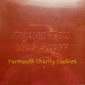 Thank You Cookie Stencil by Yarmouth Charity Cookies