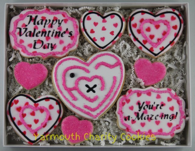 Unpackaged Valentine's Day Cookie Set by Yarmouth Charity Cookies