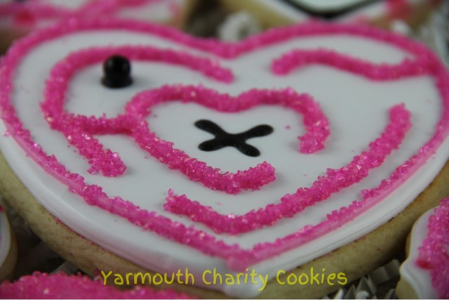 Valentine's Day Maze Cookie by Yarmouth Charity Cookies