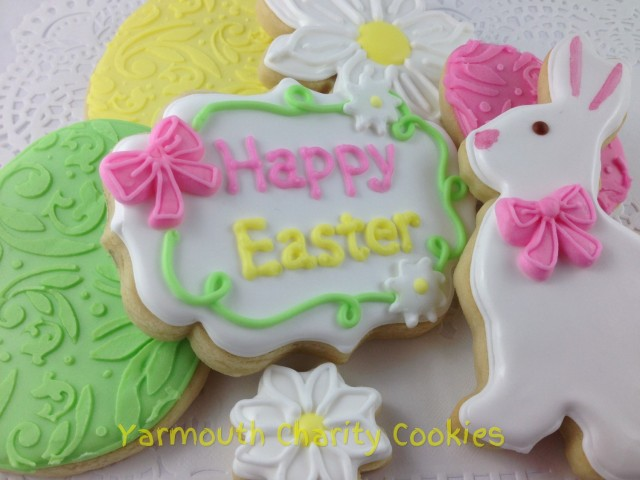 Easter Cookies by Yarmouth Charity Cookies close up