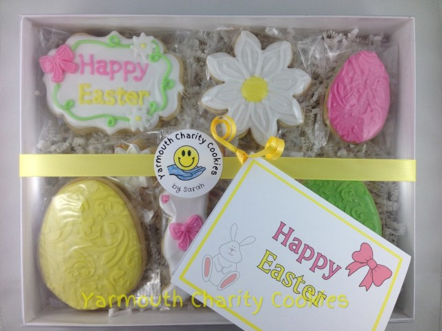 Easter Cookies Packaged Set by Yarmouth Charity Cookies